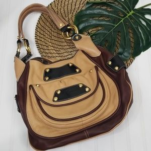 B. Makowsky leather hobo shoulder bag